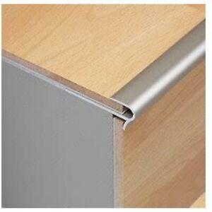Dural StepFloor 0.9m Silver Stair Nosing Step Edge Trim for 8 to 10mm flooring