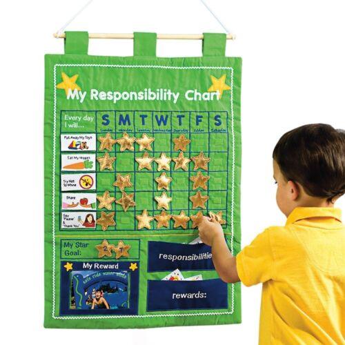 Children's 'Reward' Responsibility Fabric Wall Hanging Chart