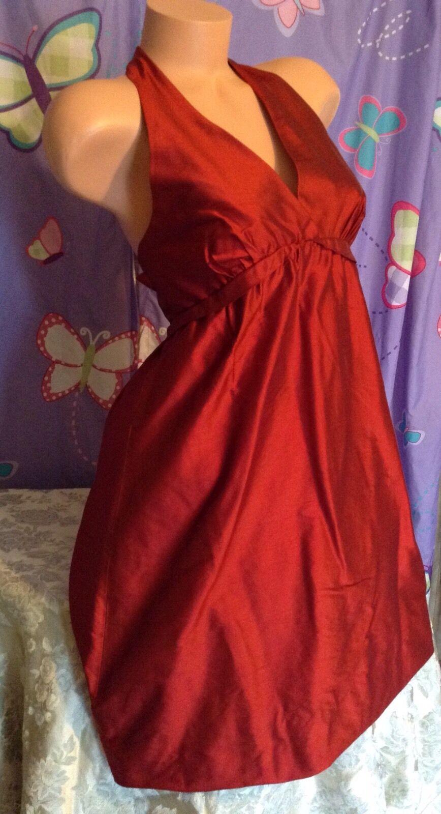 NWT BCBG MAX AZRIA RED HALTER DRESS (3 WAYS TO WEAR), SIZE 6 MSRP