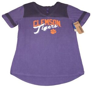 Clemson-Tigers-Shirt-Womens-Large-Blue-Eighty-Four-NCAA-Purple-Short-Sleeve-Tee