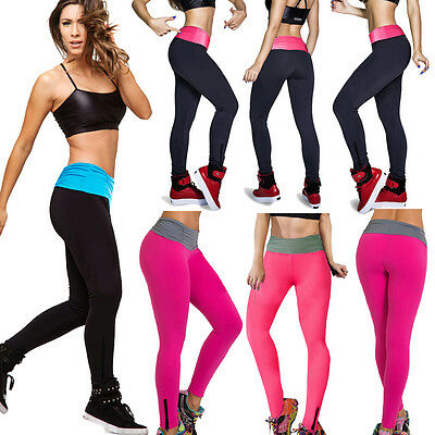 Women's Sexy Black High Waist YOGA Sport Running Pants Fitness fashion Leggings