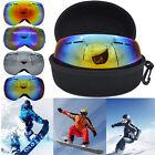 Frameless Professional Snowboard Snowmobile Ski Goggles Anti Fog UV Double-Lens