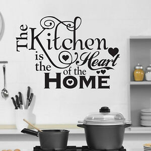 Kitchen-is-Home-Heart-Wall-Quote-Decal-Removable-Stickers-Decor-Vinyl-Home