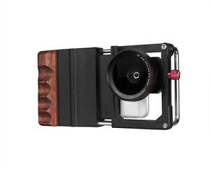 Cinema-Mount-Universal-Smartphone-Kamera-Rig-Kit-mit-2-in-1-Objektiv-Schwarz