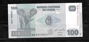 P-98 UNC 2007-2013 Congo 100 Francs Lot 10 PCS
