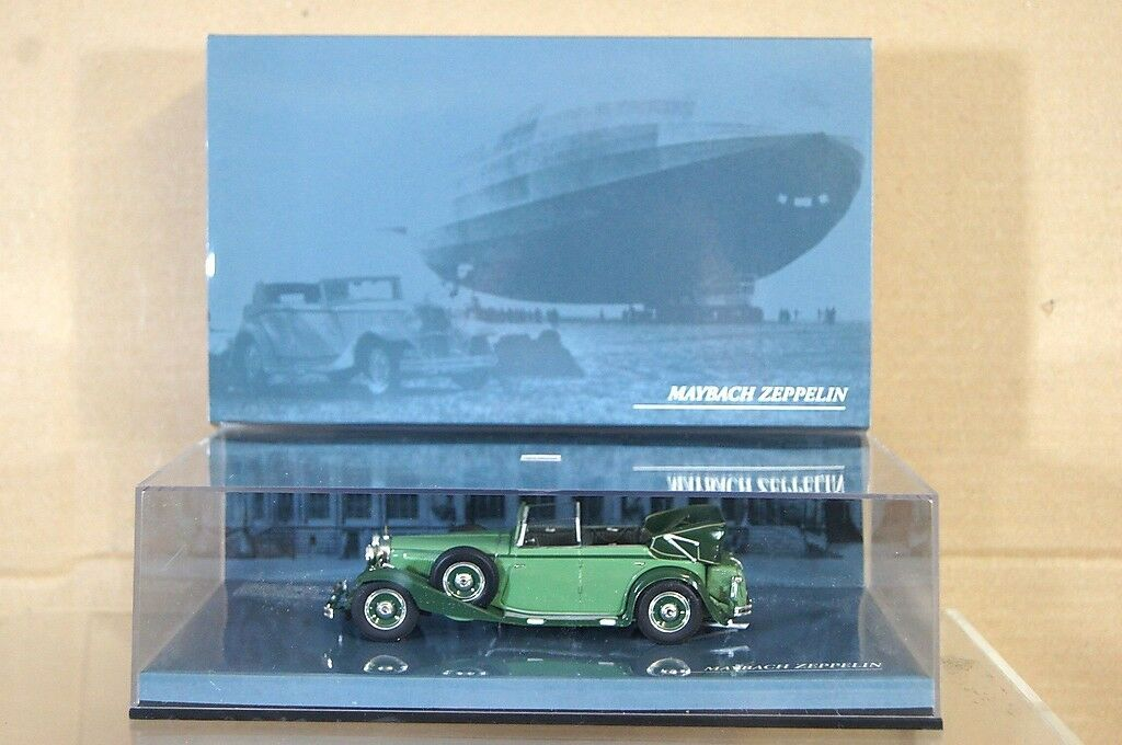MINICHAMPS 436 039404 MAYBACH ZEPPELIN DS8 V12 CABRIOLET 1938 GREEN MIB nd