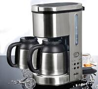 Kaffeemaschine Thermo-kaffeeautomat Mit 24-std Timer 2x Thermoskanne Edelstahl -