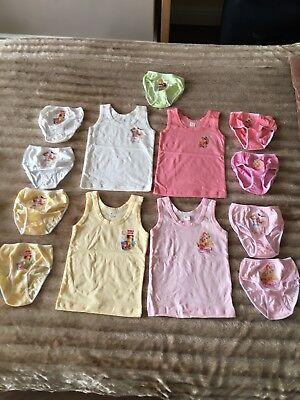 Adaptable New Winx Baby Girls Underwear Sets-4 Vests+9 Briefs-100%cotton-next Day Post-12m Excellent Quality