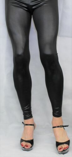 Super Shine Leather Look Footless Leggings High Quality PVC//Wet look