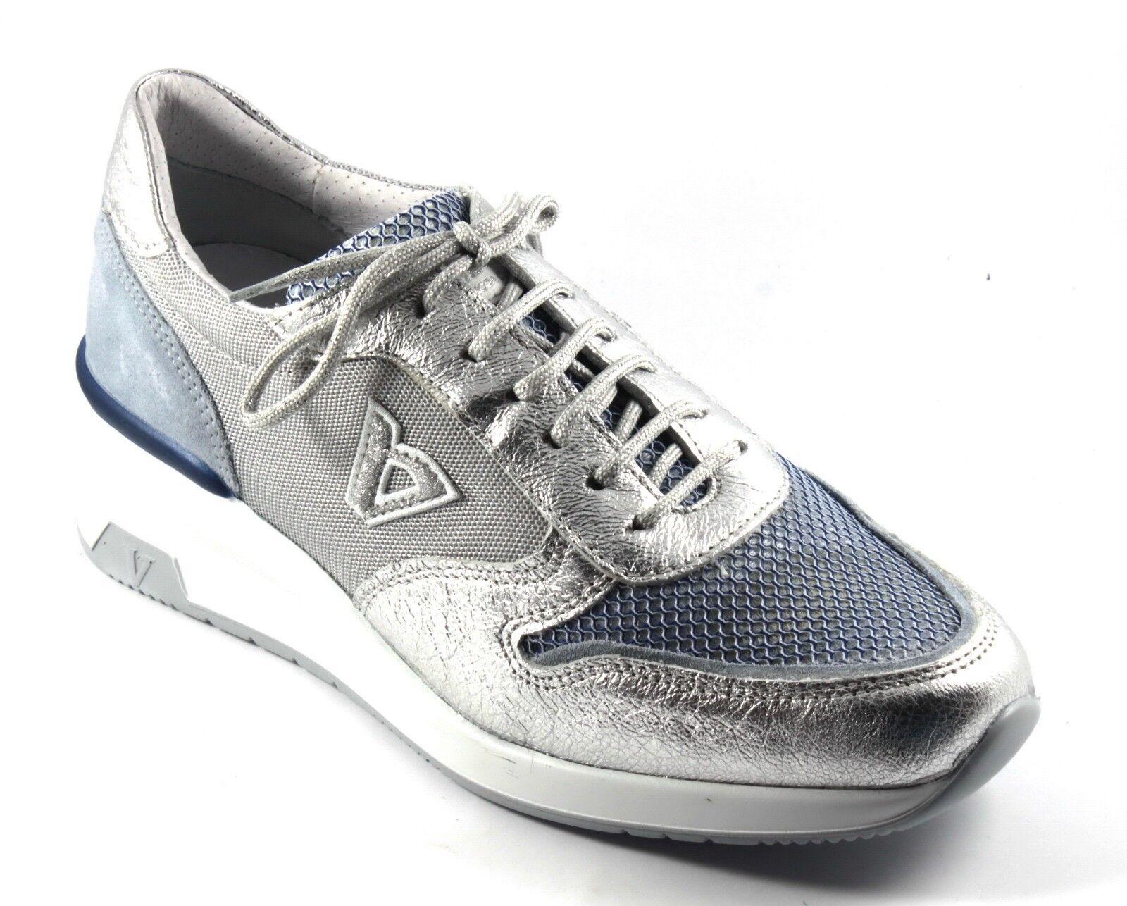 VALLEVERDE Schuhe SNEAKERS SNEAKERS SNEAKERS TENNIS Damens CASUAL ZEPPA ALLACCIATE MIX ARGENTO n.38 2dc0c9