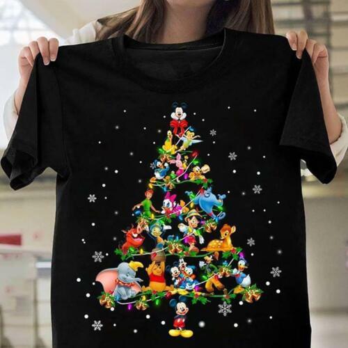 Disney Christmas Tree T-Shirt Best Xmas Gift Idea Men Women Unisex Gildan Tee