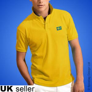 Sweden Polo Shirt Football World Cup Tshirt Flag Soccer Top Swedish
