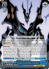 x1 Ultimate Universal Diablo Granzeboma Rare Normal Weiss Schwarz Gurren Lagann