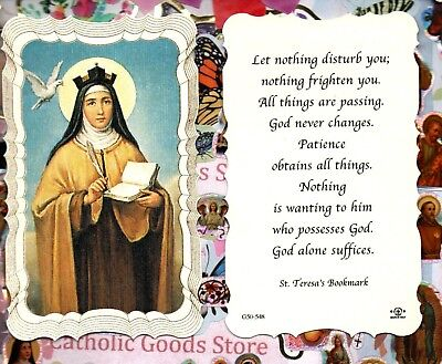 Scalloped trim Saint Gertrude the Great Prayer of St Paperstock Holy Card
