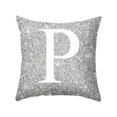 HOT Single Letter Printed Cushion A-Z Alphabet Case Pillows Cover Initials