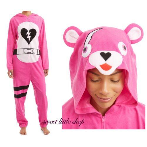 Fortnite Union Suit Cuddle Team Leader Costume Sleepwear Unisex Adult Medium 2XL