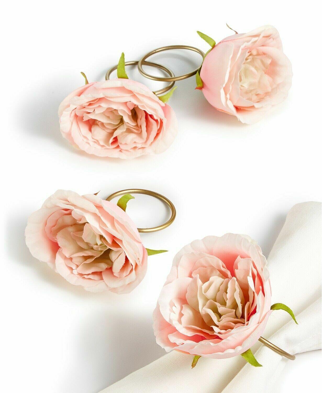 ceramic flower napkin rings