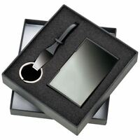 Personalised Gifts - Business Card Holder and Keyring in Luxury Gift Box