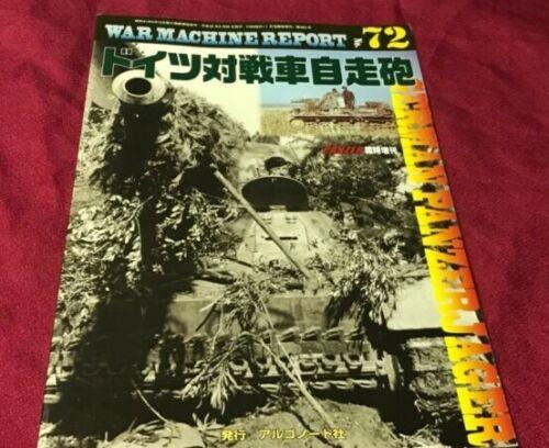 """/""""German PanzerJager/"""" War Machine Report #72 Photo Book Panzer Mag Japan"""