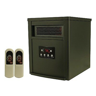 LifeSmart 6 Element 1500W Portable Electric Infrared Room Space Heater, Black