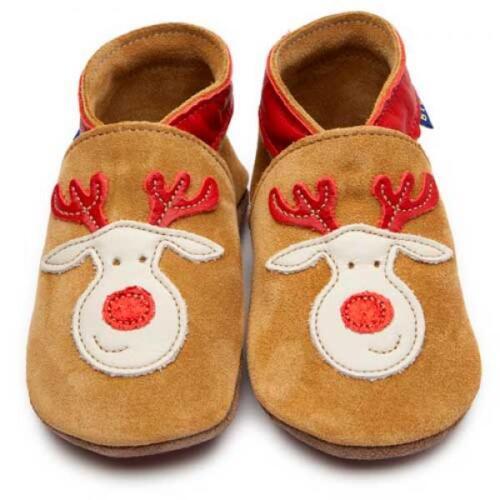 Baby zapatos de piel rudolph reno randolf Inch Blue rentierkopf Baby zapatos 160016
