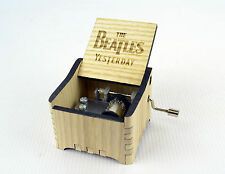 Personalized Hand Crank Wooden Music Box (The Beatles - Yesterday)