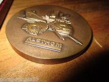 Grosse médaille,presse papier bronze-1885-1985-Alsthom-CEM-