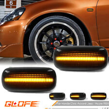 For Honda Civic Acura Rsx Integra Sequential Amber Led Smoke Side Marker Lights Fits Rsx