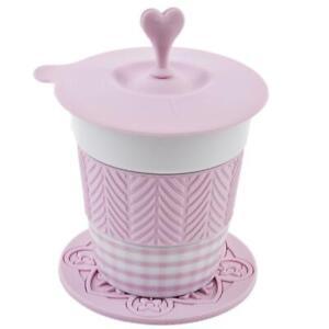 Gobelet-stylo-Porzellan-Silikon-15x10x8cm-Blanc-Rose-Tasse-de-Cafe-Design