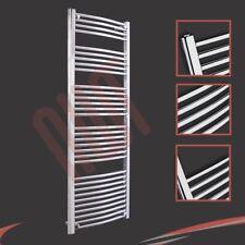 600mm(w) x 1600mm(h) Curved Chrome Heated Towel Rail 3019 BTUs Radiator Warmer