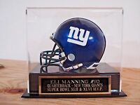 Display Case For Your Eli Manning Giants Autographed Football Mini Helmet