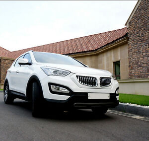 Santa Fe Bmw >> Details About Bmw Style Chrome Radiator Grille 1p For Hyundai Santa Fe Sports 2013 2015