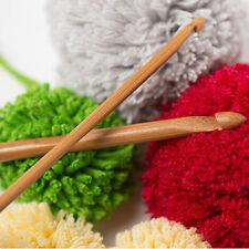12* rund Bambus Stricknadel mit verschieden Kopf Größe Pullover Weben Häkelnadel