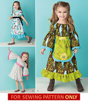 Sewing Pattern Make Girl's Boutique Style Dress Toddler 1/2-child 8 Clothes