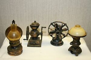 Lot of Four Antique Finished Die-Cast Miniature Pencil Sharpeners