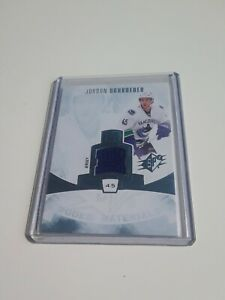 2013-14-Spx-Jordan-Schroeder-Jersey-Rookie-Materials-Rc-RM-JS-Canucks-L-K