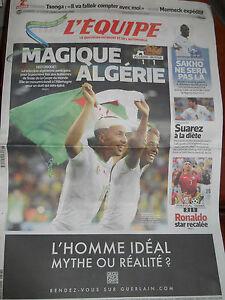 """Distingué Algerie Coupe Du Monde Football 2014 Bresil """"l'equipe"""" 27 Juin 2014 Cool En éTé Et Chaud En Hiver"""