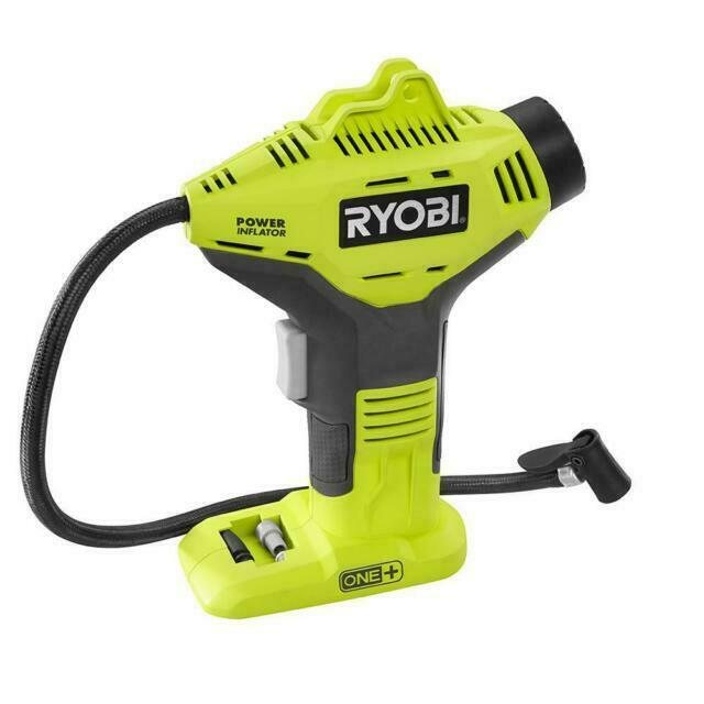 Ryobi P737D One+ 18V Pressure Inflator with Digital Gauge. Available Now for 30.00