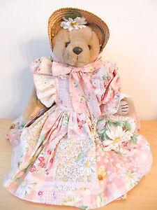 """NEW Bearly People 1996 English Garden Bears """"Daisy May"""" 16"""" Plush Bear"""
