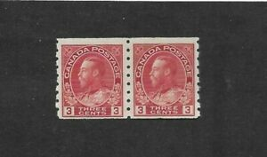 CANADA-STAMPS-130-PAIR-LH-FROM-1912