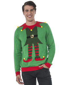 image is loading ugly christmas party sweater green amp red adult - Ugly Christmas Sweater Ebay
