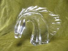 Belle tete de cheval cristal Daum France (crystal horse's head ) h 22cm