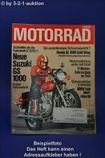Motorrad 24/77 Honda GL Suzuki GS Zündapp KS Kreidler