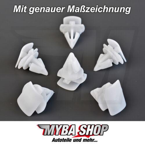 20x fijación clips zierleistenklammern para AUDI SEAT SKODA VW #neu #