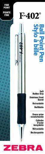 0.7 Mm Pen Point Size Zebra Pen F-402 Ballpoint Pen Fine Pen Point Type