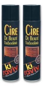 Lot-de-2-KIRAVIV-cire-de-beaute-terebenthinee-aerosol-400-ml