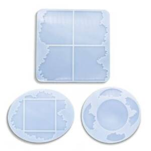 Silicone-Coaster-Resin-Casting-Mold-Jewelry-Agate-Making-Epoxy-Mould-Craft-Tool