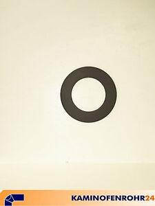 Rauchrohr-Ofenrohr-Rosette-5-oder-7-od-9-cm-Rand-grau-schwarz-120-130-150-mm