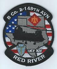 """B CO 2-149TH AVN OEF XIV """"RED RIVER""""  patch"""