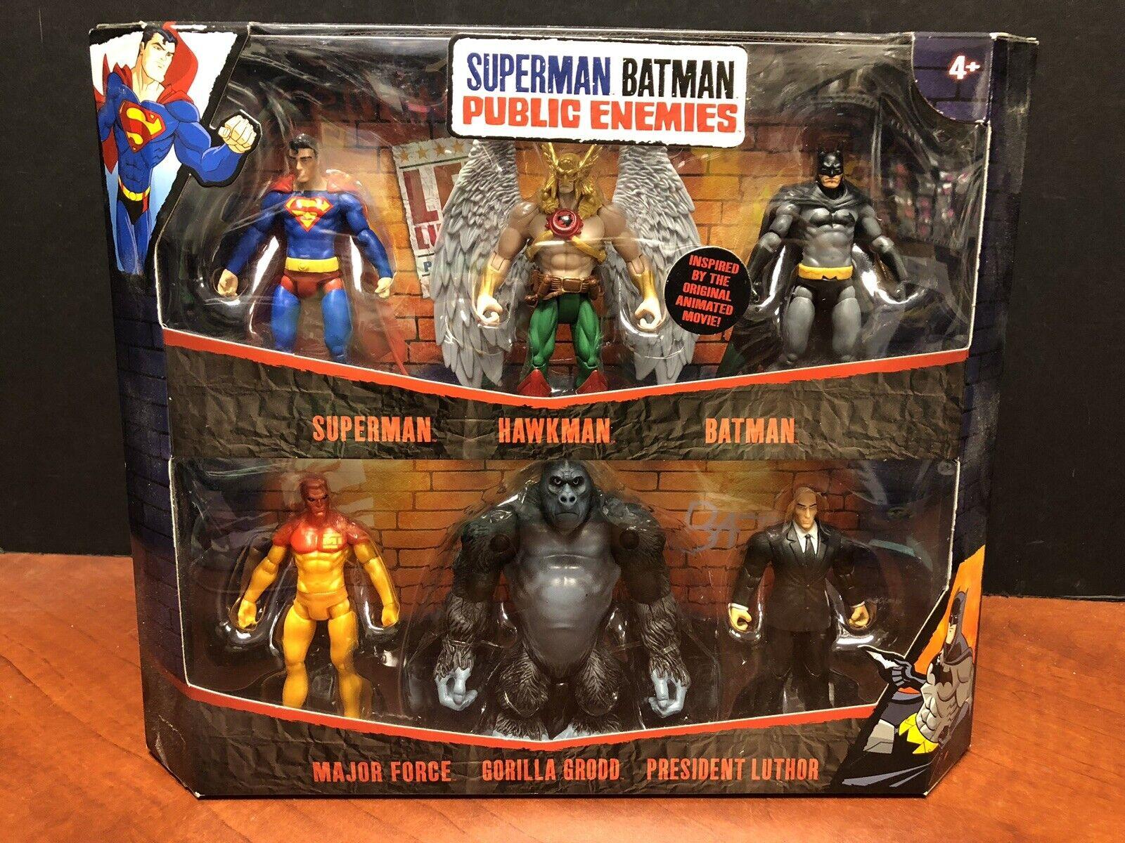 DC Superuomo Batuomo Public Enemies  Infinite Heroes 6 cifra Set TAMP0136  qualità ufficiale